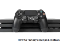 factory reset ps4 controller